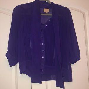 Purple sheer top
